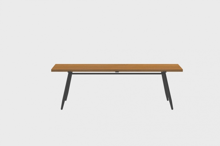 Table Bar Teck Stipa 61x210
