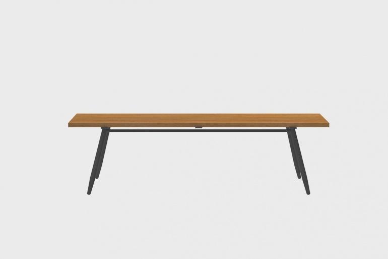 Table Bar Teck Stipa 61x240