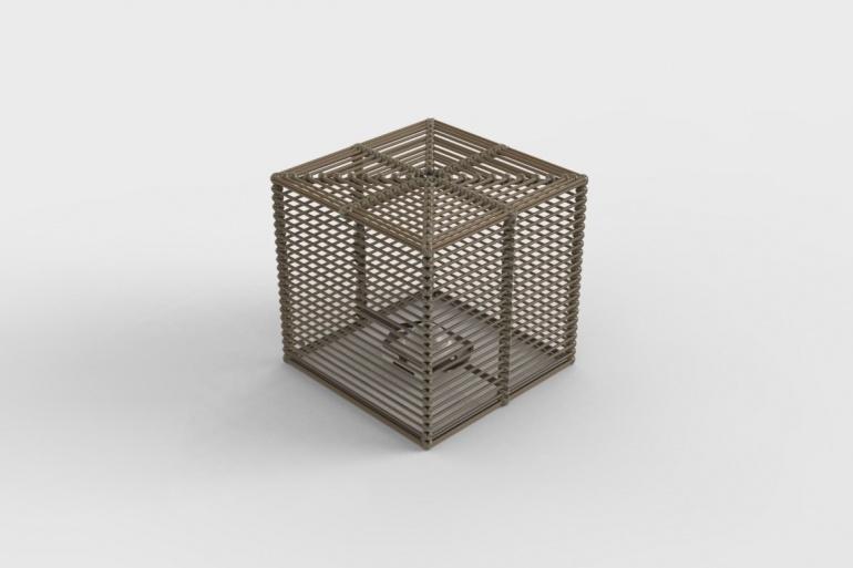 La Lampe Paillote Cube L