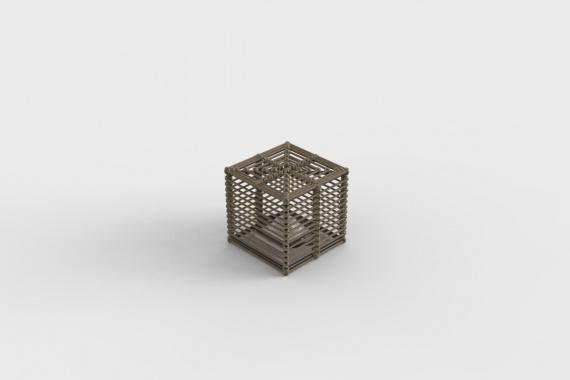 La Lampe Paillote Cube S