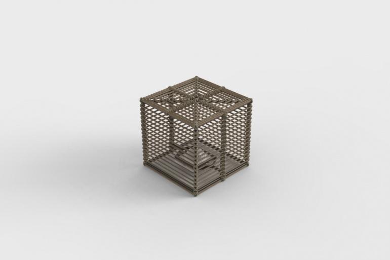 La Lampe Paillote Cube M