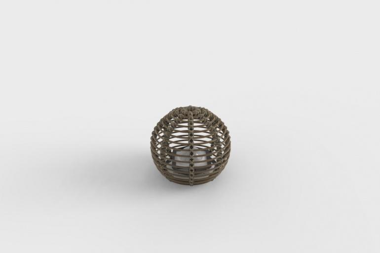 La Lampe Paillote Sphere S