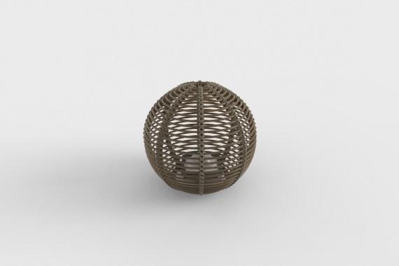 La Lampe Paillote Sphere M