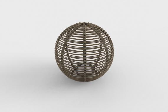 La Lampe Paillote Sphere L